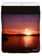 Sunset At Lake Of The Woods Duvet Cover