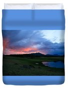 Sunset At Locke's Pond - Big Horn Mountains - Buffalo Wyoming Duvet Cover
