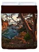 Sunset At Mcway Falls Duvet Cover