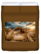 Sunset At Mobius Arch Duvet Cover