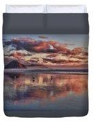 Sunset At Morro Strand Duvet Cover