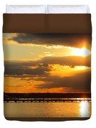 Sunset At National Harbor Duvet Cover