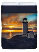 Sunset At North Head Duvet Cover
