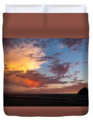 Sunset At Pacific City Duvet Cover