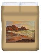Sunset At Pfeiffer Beach Duvet Cover