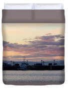 Sunset At Port Angeles Duvet Cover