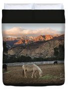 Sunset At Rancho Oso Duvet Cover