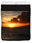 Sunset At Sea Duvet Cover