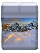 Sunset At Sierra Nevada Duvet Cover