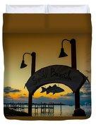 Sunset At Snooks Bayside Duvet Cover
