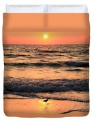 Sunset At St. Joseph Duvet Cover by Adam Jewell