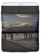 Sunset At The Beach Duvet Cover