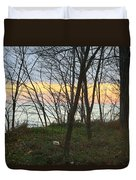 Sunset At The Island Duvet Cover