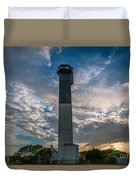 Sunset At The Lighthouse Duvet Cover