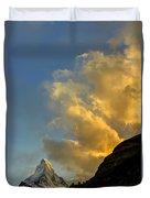 Sunset At The Matterhorn Switzerland Duvet Cover