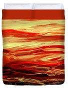 Sunset At The Red River Abstract Duvet Cover