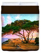 Sunset At The Wedge In Newport Beach Duvet Cover