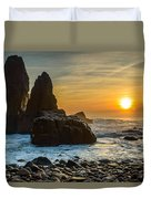 Sunset At The World's End II Duvet Cover