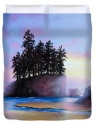 Sunset At Tongue Point Duvet Cover