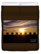 Sunset At Venice Beach Duvet Cover
