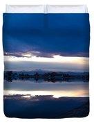 Sunset At Windsor Lake Duvet Cover by Dana Kern