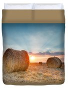 Sunset Bales Duvet Cover by Evgeni Dinev