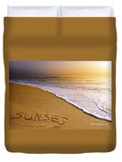Sunset Beach Duvet Cover by Carlos Caetano