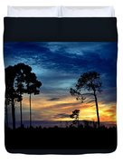 Sunset Behind The Trees Duvet Cover