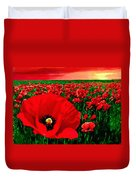 Sunset California Poppy Preserve Duvet Cover