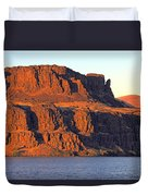 Sunset Cliffs At Horsethief  Duvet Cover by Talya Johnson