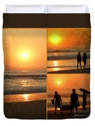 Sunset - Orange Beach Collage Duvet Cover