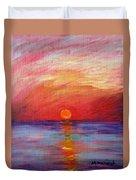 Sunset Delaware Bay Duvet Cover