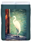 Sunset Dock Visitor Duvet Cover