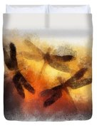 Sunset Dragonflies Duvet Cover
