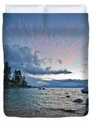 Sunset Drama At Tahoe Duvet Cover