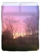 Sunset Elegant Fall Tree Show Skyview Resort Weekend Getaway To Poconos Pa America Usa Landscape Nav Duvet Cover