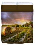 Sunset Farm Duvet Cover by Debra and Dave Vanderlaan