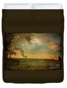 Sunset Farmland Duvet Cover