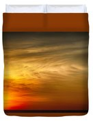 Sunset Feather Clouds Duvet Cover