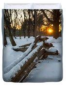 Sunset Fence Duvet Cover