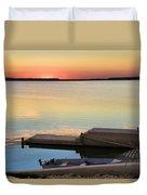 Sunset Fishing Duvet Cover