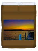 Sunset From Andersons Dock Duvet Cover