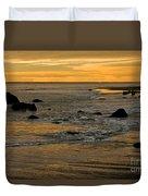 Sunset From Damon Point Duvet Cover