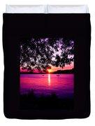 Sunset From Point Fosdick Gig Harbor Washington Duvet Cover