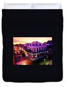 Sunset From The Balcony In The French Quarter Of New Orleans Duvet Cover