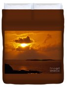 Sunset From The Dolphin Watch Cottage Duvet Cover