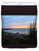 Sunset Garden View Duvet Cover