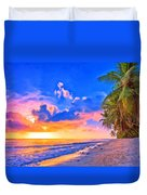 Sunset Glow On The Kona Coast Duvet Cover