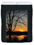 Sunset Glow Toms River New Jersey Duvet Cover