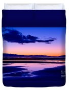 Sunset Great Salt Lake - Utah Duvet Cover
